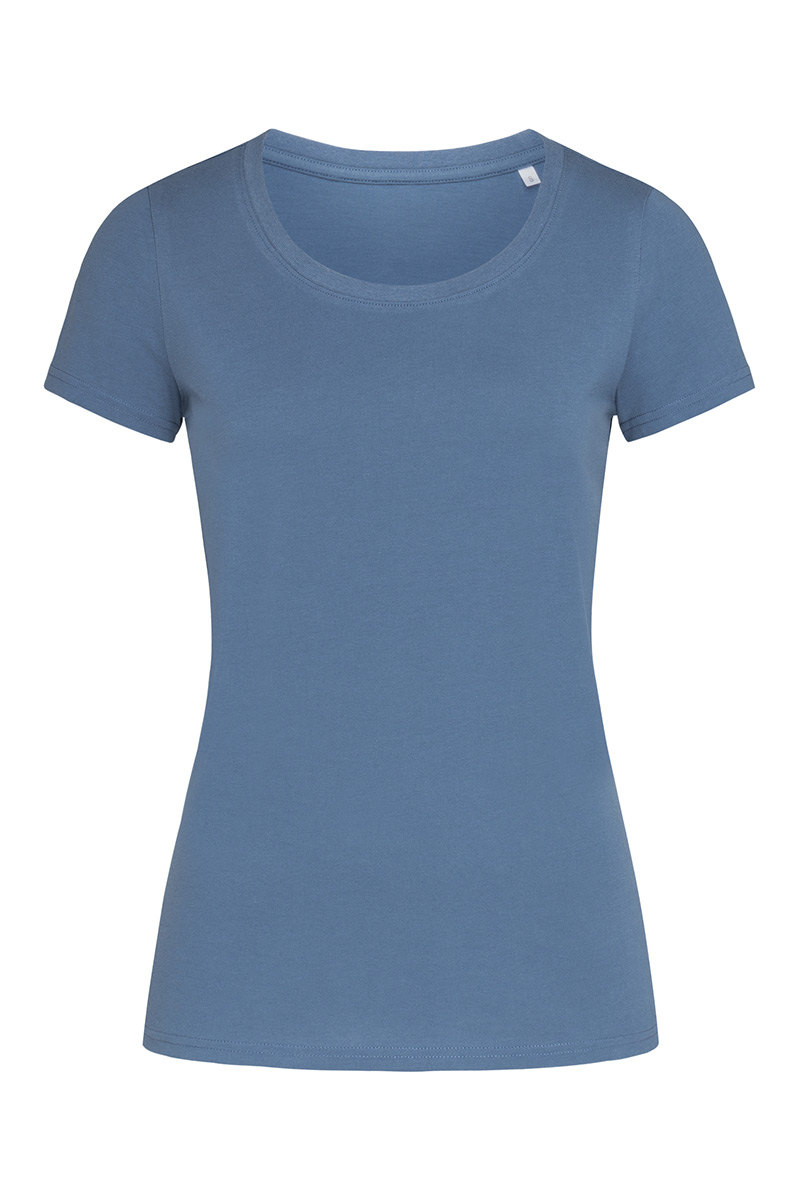 ST9300_DMB Janet Organic Crew Neck Denim Blue