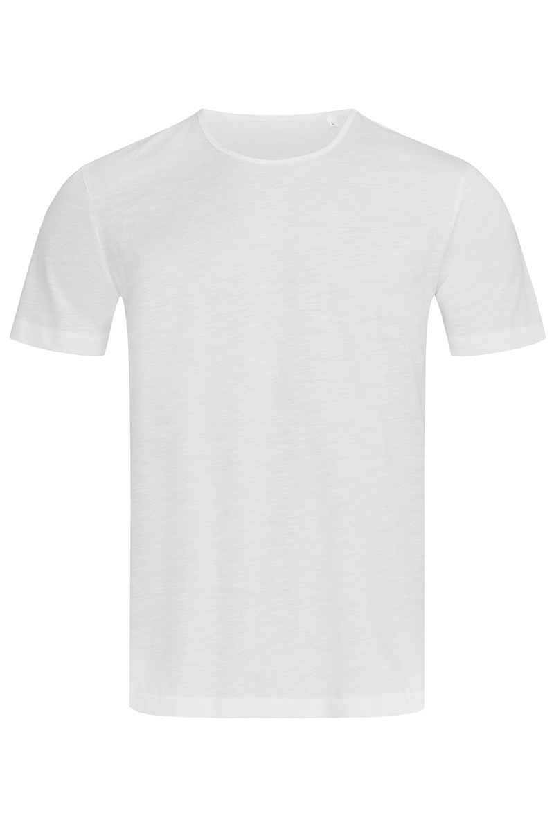 ST9400_WHI Shawn Slub Crew Neck White