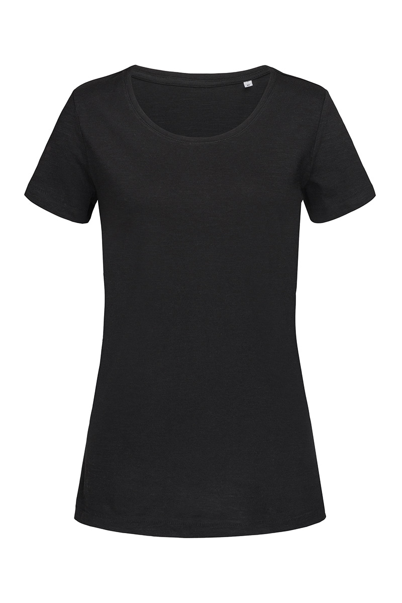 ST9500_BLO Sharon Slub Crew Neck Black Opal