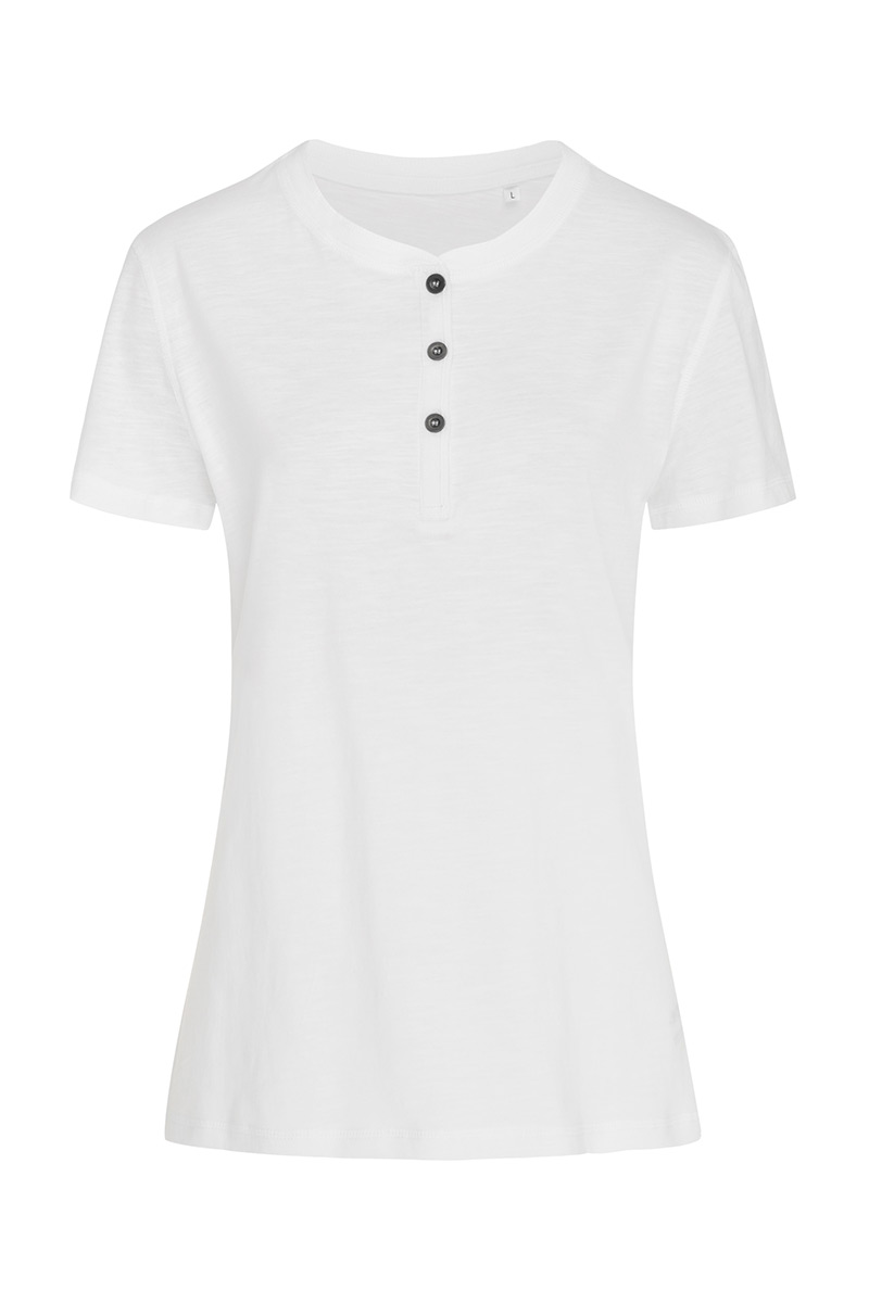 ST9530_WHI Sharon Henley T-shirt White