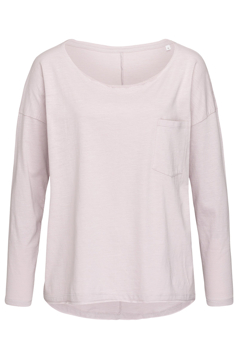ST9560_PRO Sharon Oversized Slub Long Sleeve Powder Rose