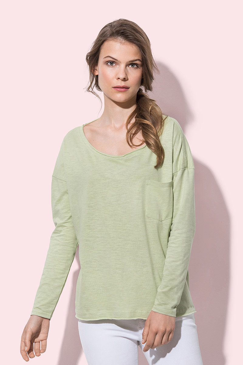 ST9560 Sharon Oversized Slub Long Sleeve