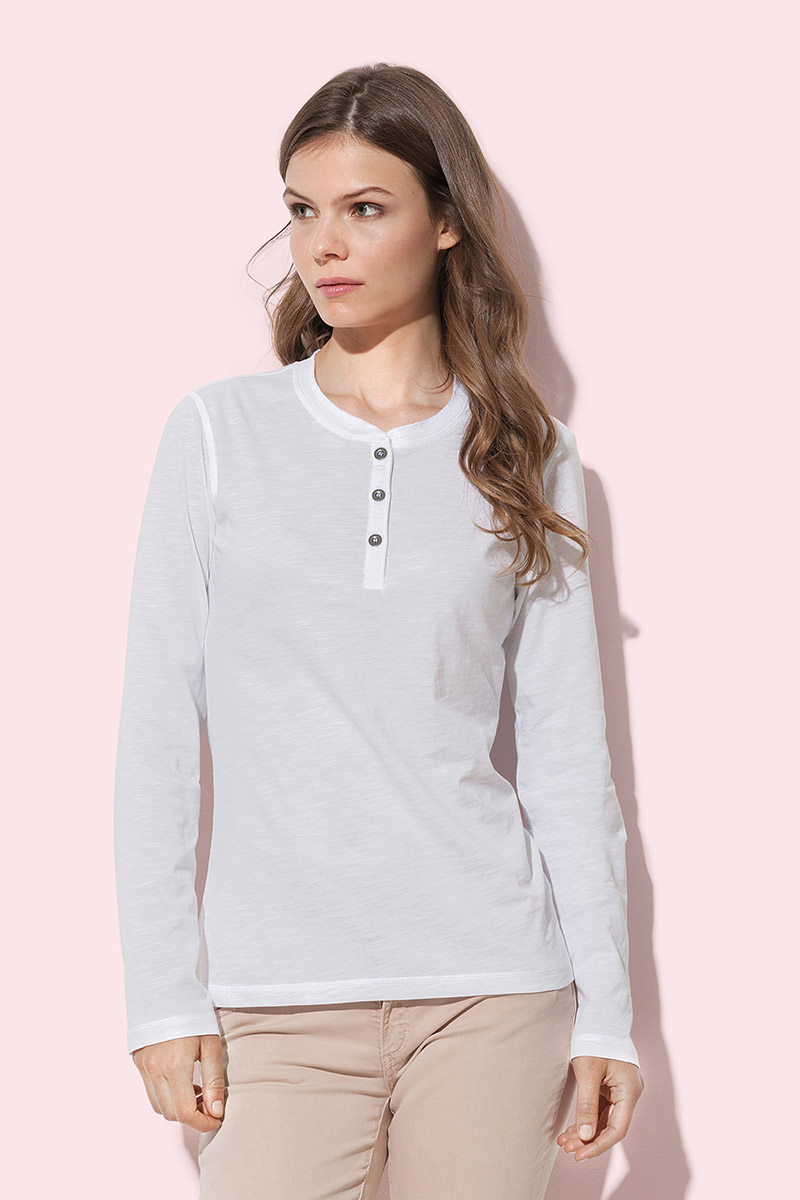 ST9580 Sharon Henley Long Sleeve