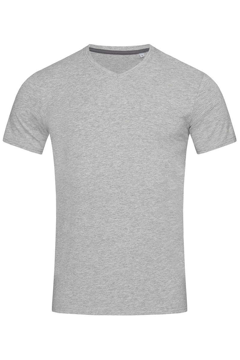 ST9610_GYH Clive V-neck Grey Heather