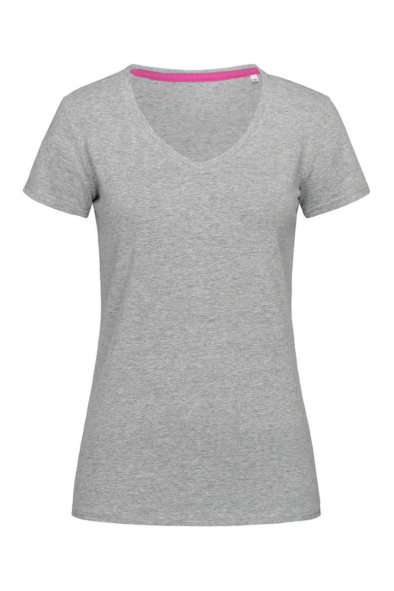 ST9710_GYH Claire V-neck Grey Heather