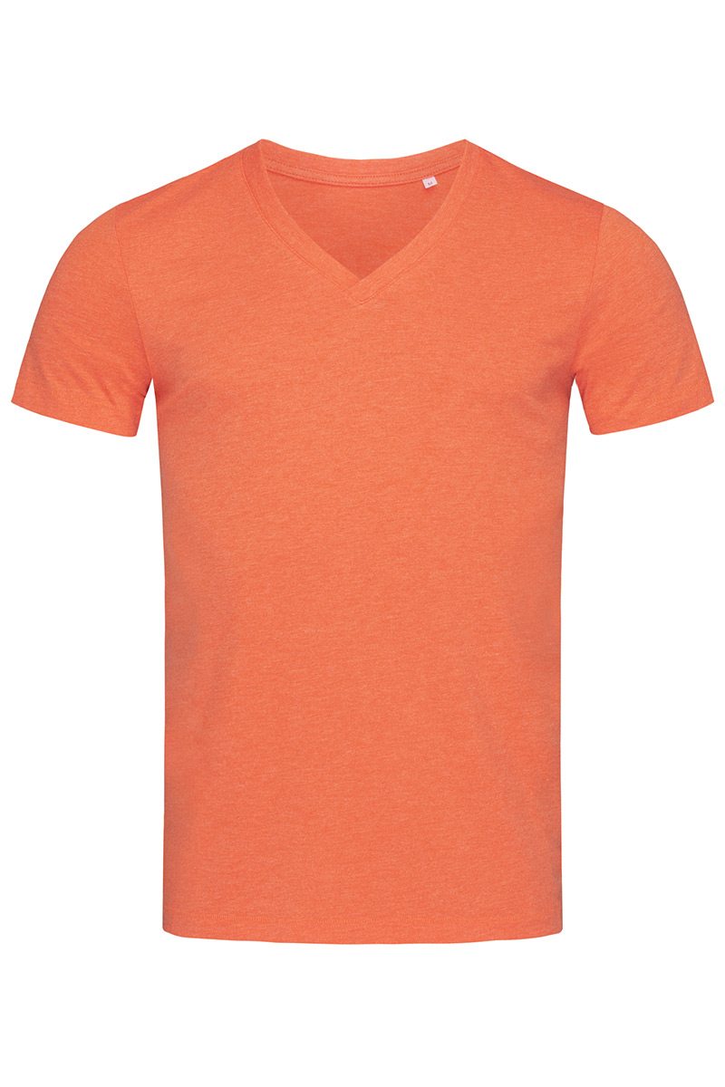 ST9810_PUH Luke V-neck Pumpkin Heather