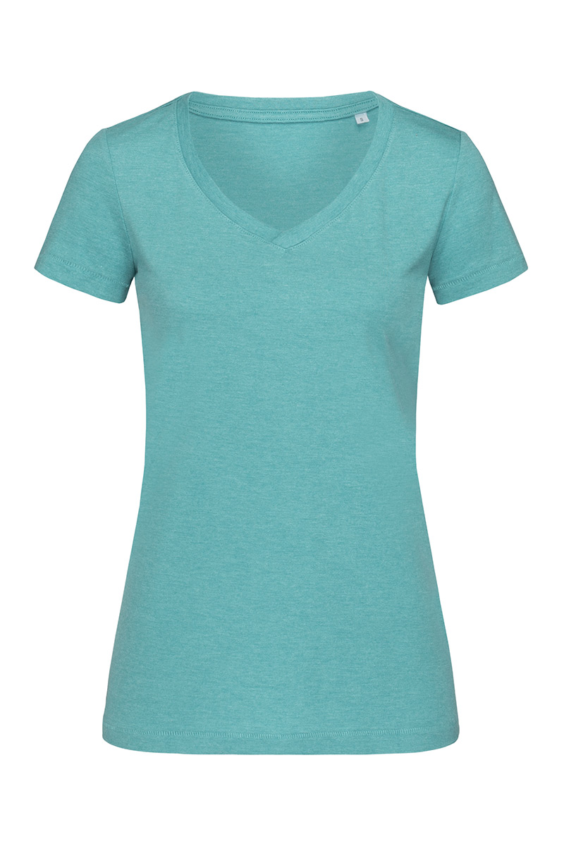 ST9910_AQH Lisa V-neck Aqua Heather