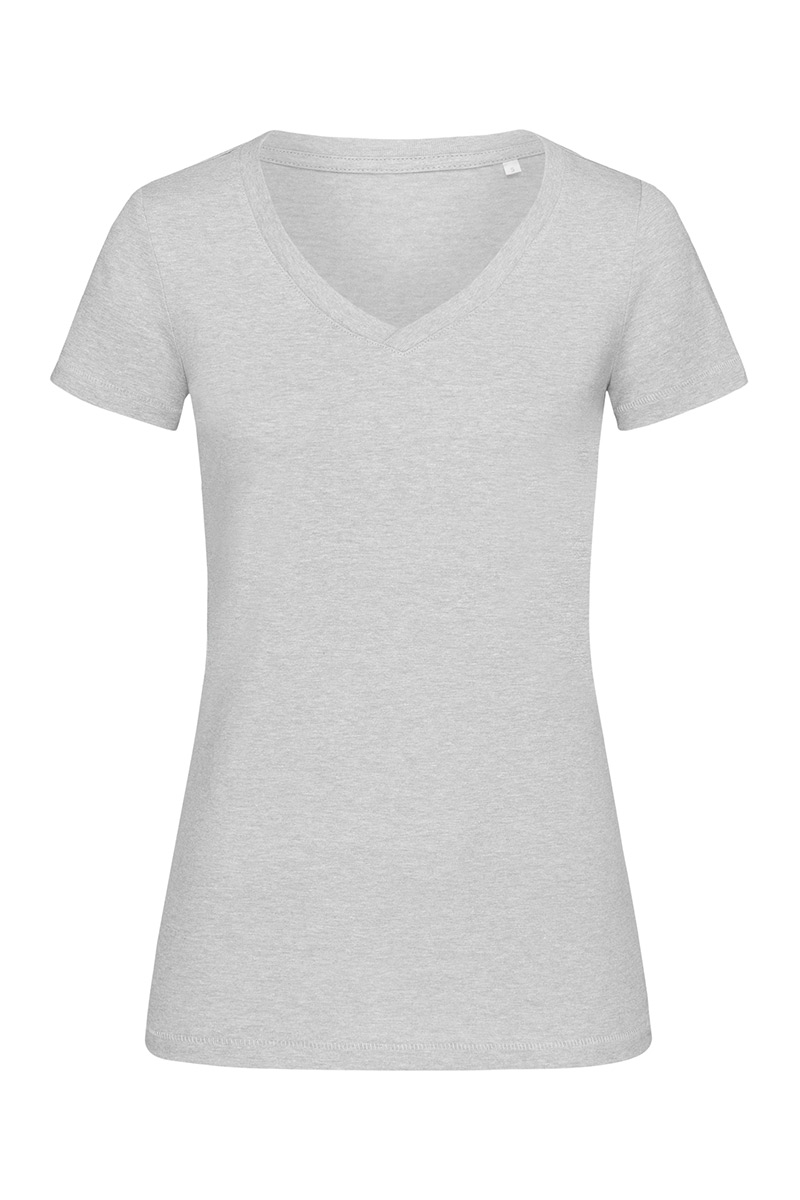 ST9910_GYH Lisa V-neck Grey Heather