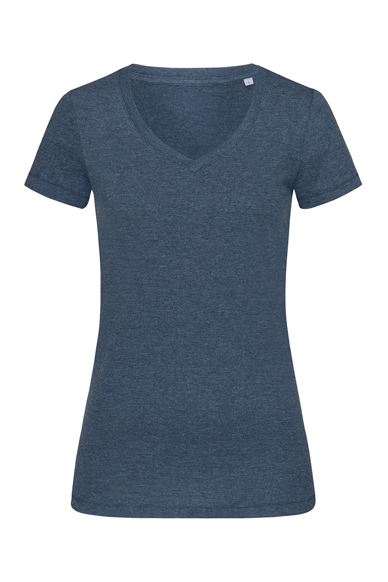 ST9910_NAH Lisa V-neck Navy Heather