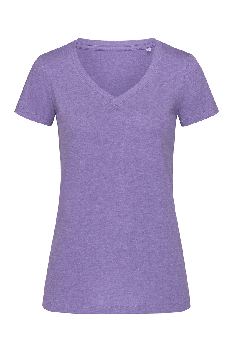 ST9910_PRH Lisa V-neck Purple Heather