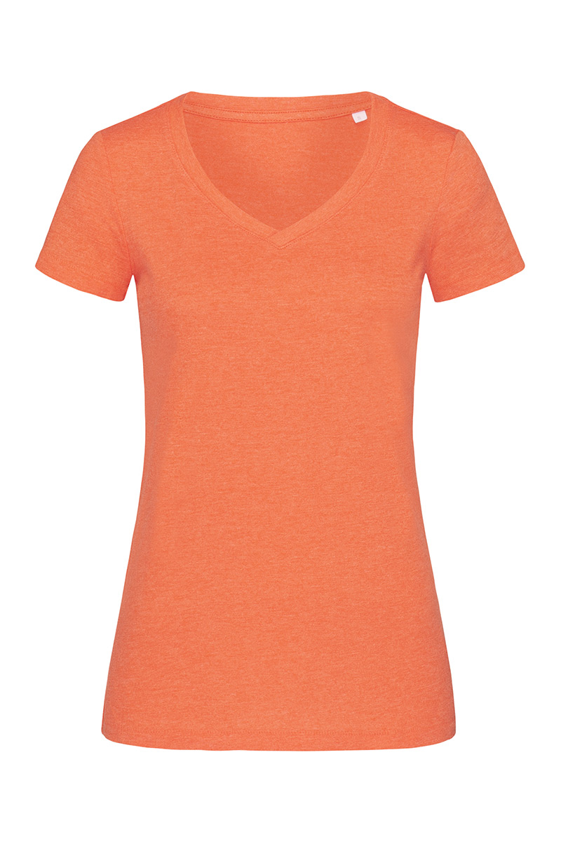 ST9910_PUH Lisa V-neck Pumpkin Heather